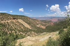 Hubbard Mine on left and valley below.